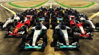 F1 2016 CARS IN GTA V! ALL 22 CARS IN THE GAME!!! (GTA V F1 2016 Add-On Mod Pack)
