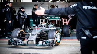 Jorge Lorenzo drives the MERCEDES AMG PETRONAS F1 W05 Hybrid