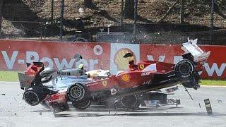 F1 Start Crashes Compilation (First Lap)