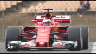Raikkonen and Ferrari Go Quickest | F1 Testing 2017, Day 2