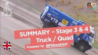 Stage 3 & 4 Summary - Quad/Truck - Dakar 2017