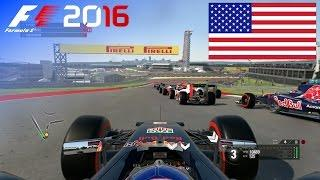 F1 2016 - 100% Race at Circuit of the Americas, USA in Ricciardo's Red Bull