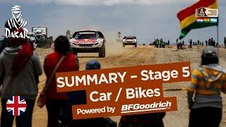 Stage 5 Summary - Car/Bike - (Tupiza / Oruro) - Dakar 2017