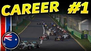 F1 2016 CAREER MODE PART 1: AUSTRALIA