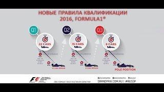 Новые правила квалификации, Formula 1®, 2016